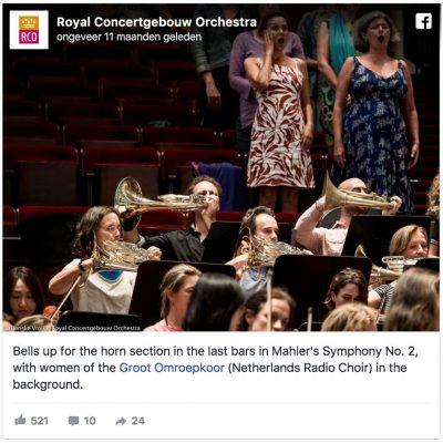 Bells up Mahler 2 (© Renske Vrolijk)